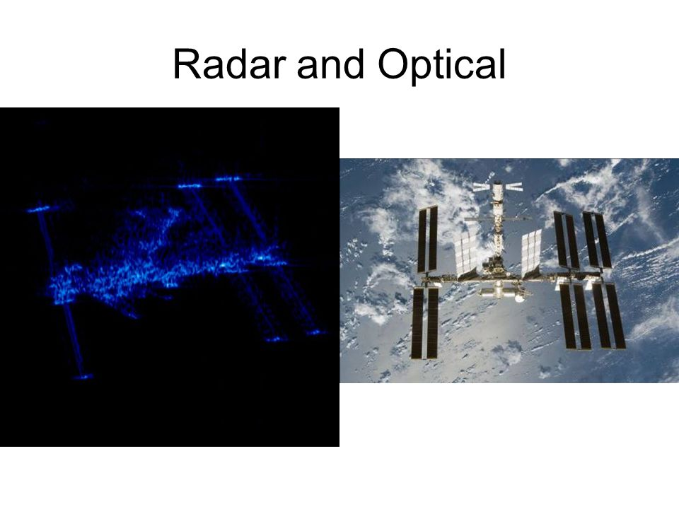 Radar and Optical