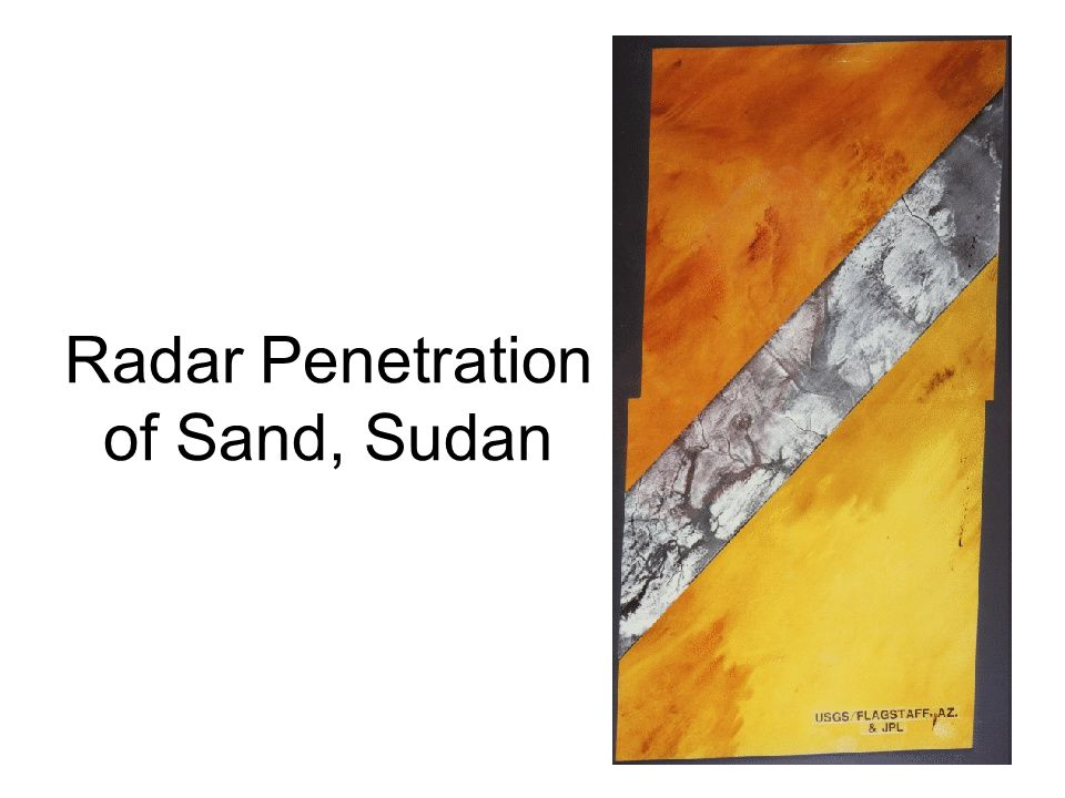 Radar Penetration of Sand, Sudan