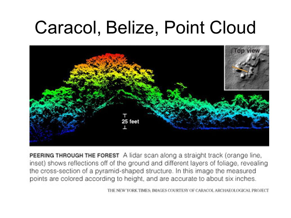 Caracol, Belize, Point Cloud
