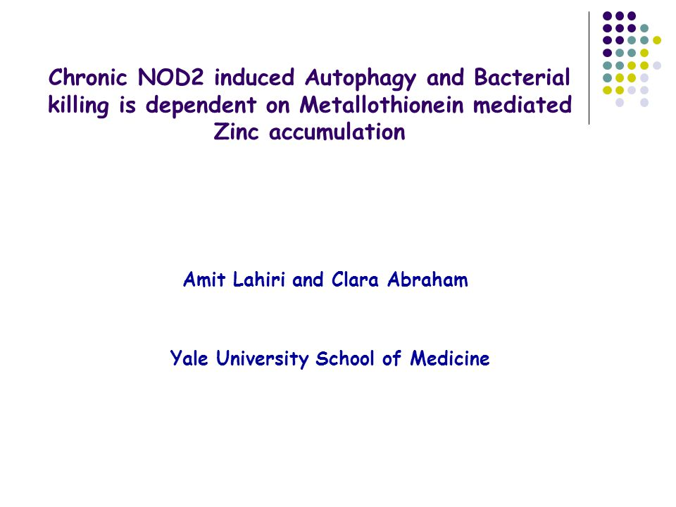Chronic NOD2 induced Autophagy and Bacterial killing is dependent on