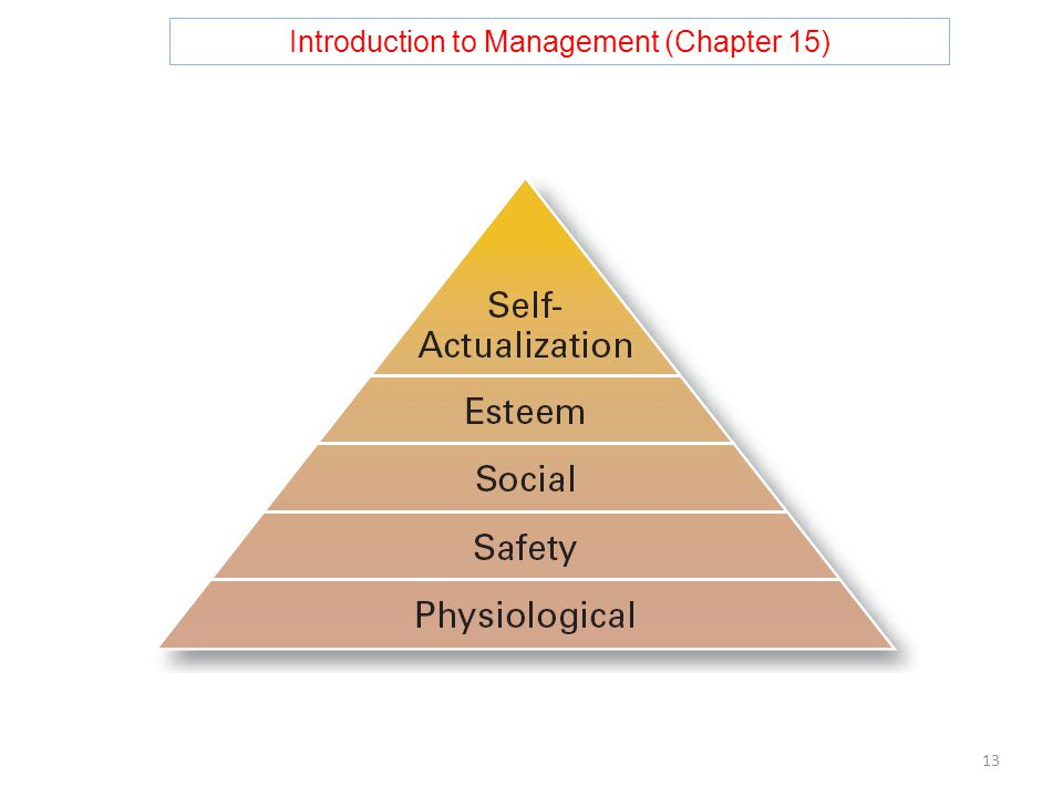 Introduction to Management (Chapter 15) 13