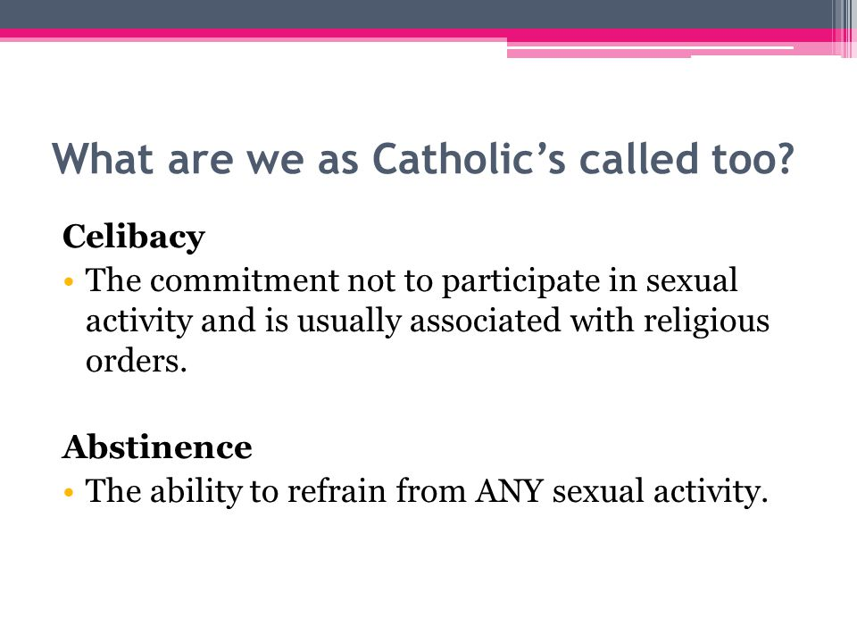 What are we as Catholic's called too.
