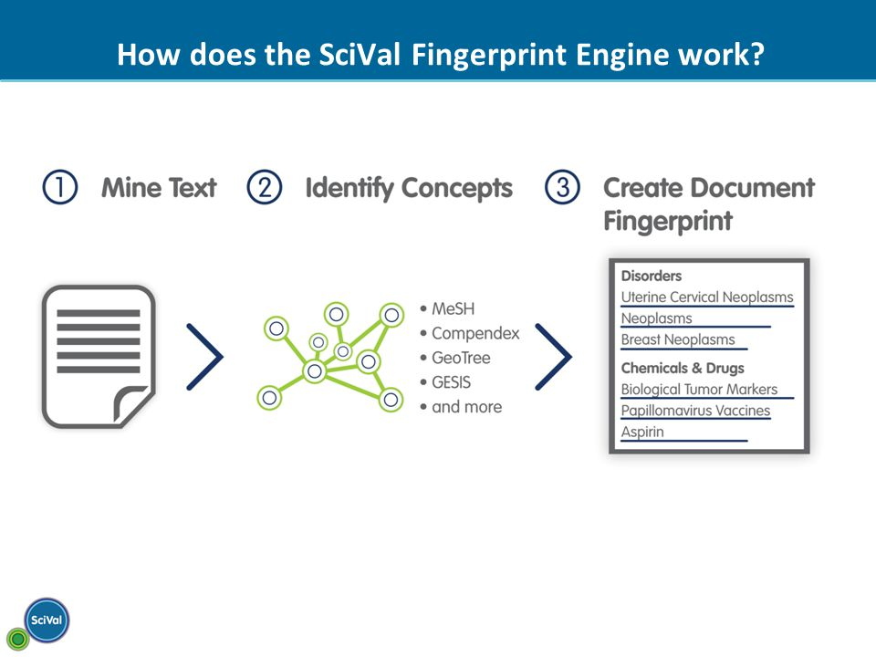 How does the SciVal Fingerprint Engine work