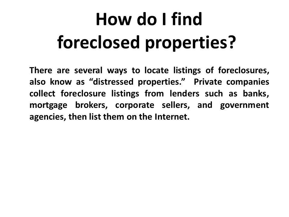 The Foreclosure Crisis: Saving your American Dream  - ppt