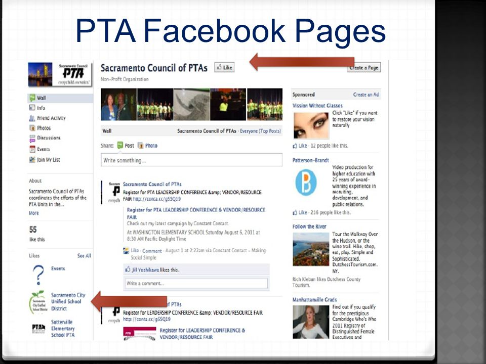 PTA Facebook Pages
