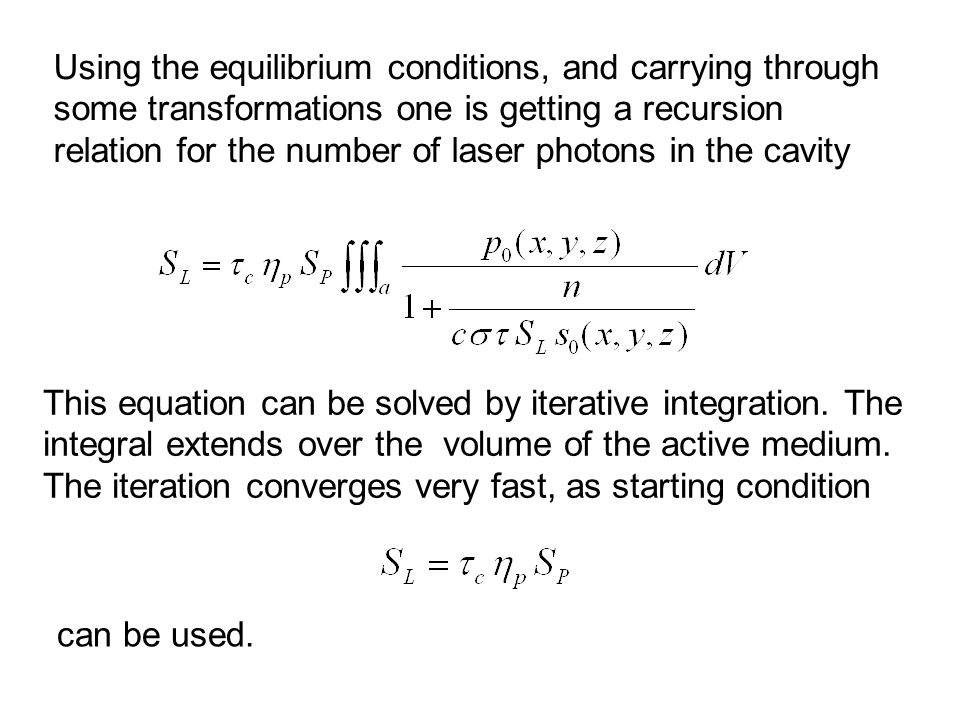 This equation can be solved by iterative integration.