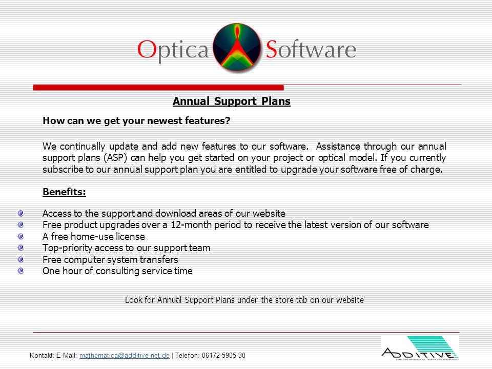 1b7b88a3a0 Optica Software ™ is the foremost provider of tools for virtually ...