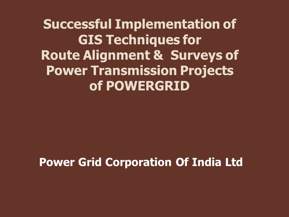 Successful Implementation of GIS Techniques for Route