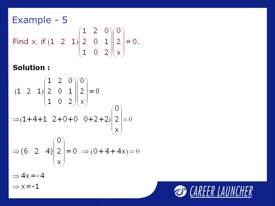 Example - 5 Solution :