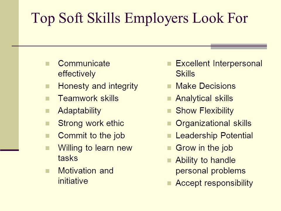 what skills do employers look for