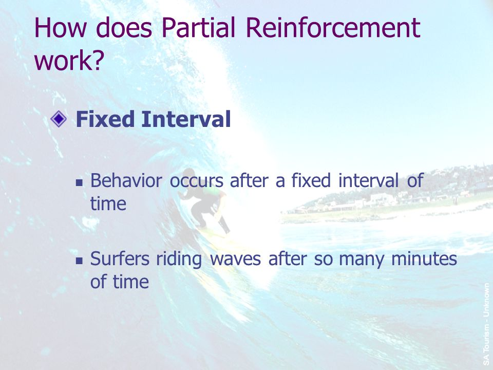 How does Partial Reinforcement work.