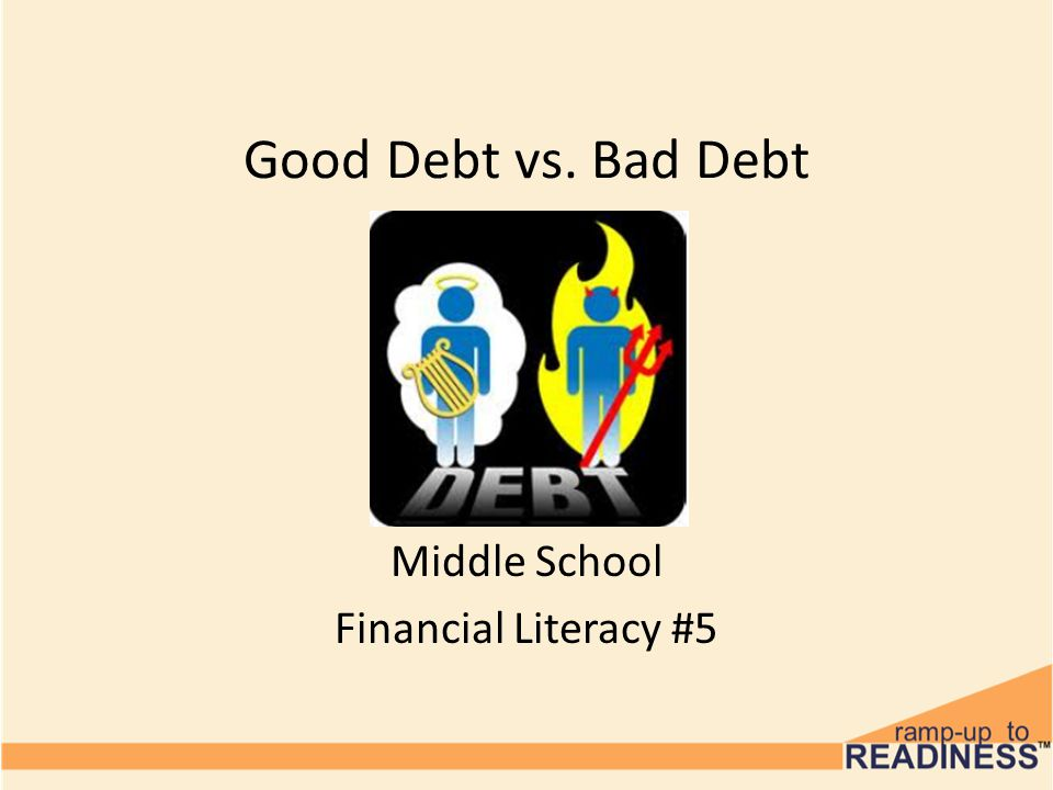 Good Debt vs. Bad Debt Middle School Financial Literacy #5