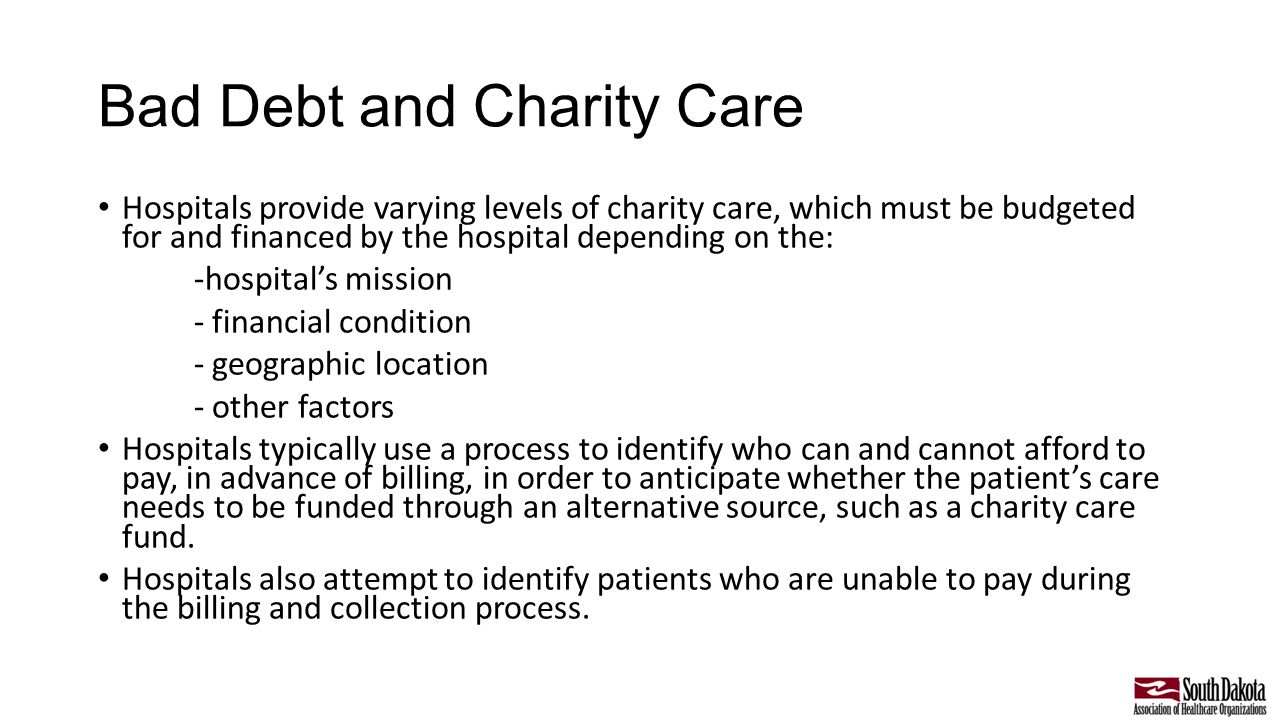 how does charity care benefit hospitals