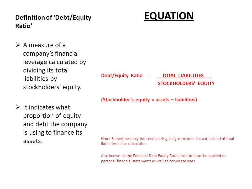 stockholders equity formula