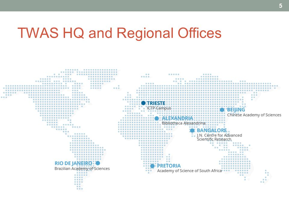 TWAS HQ and Regional Offices 5