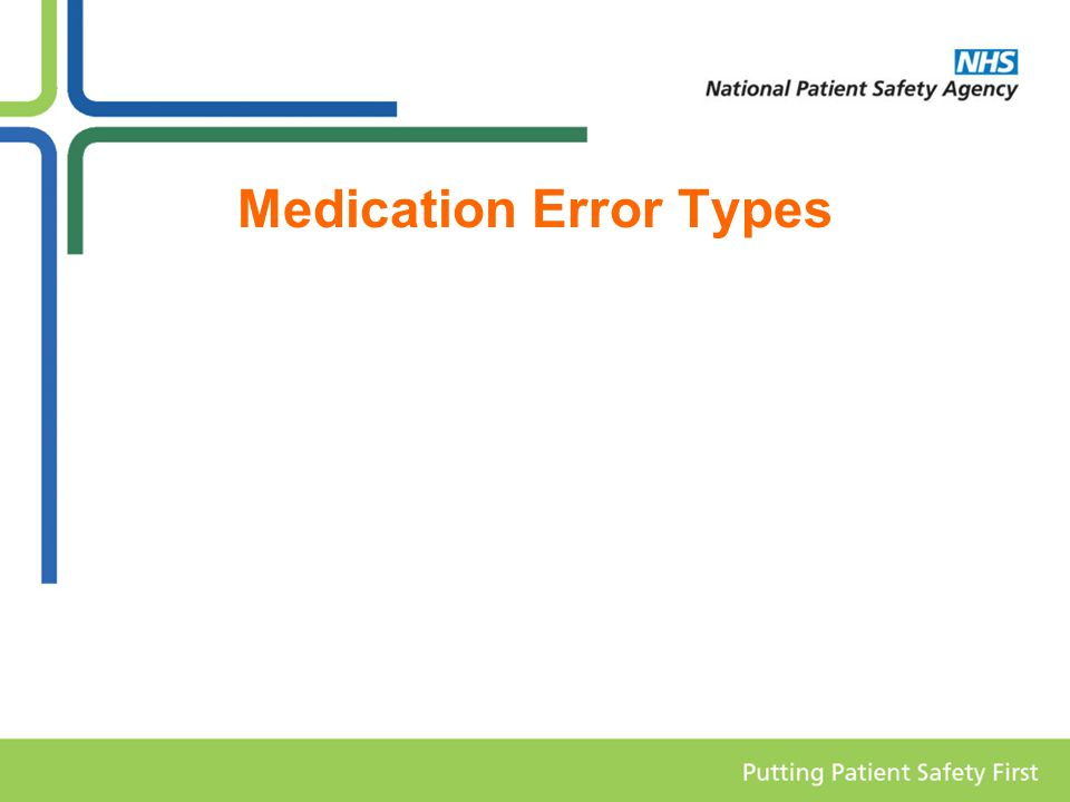 Medication Error Types