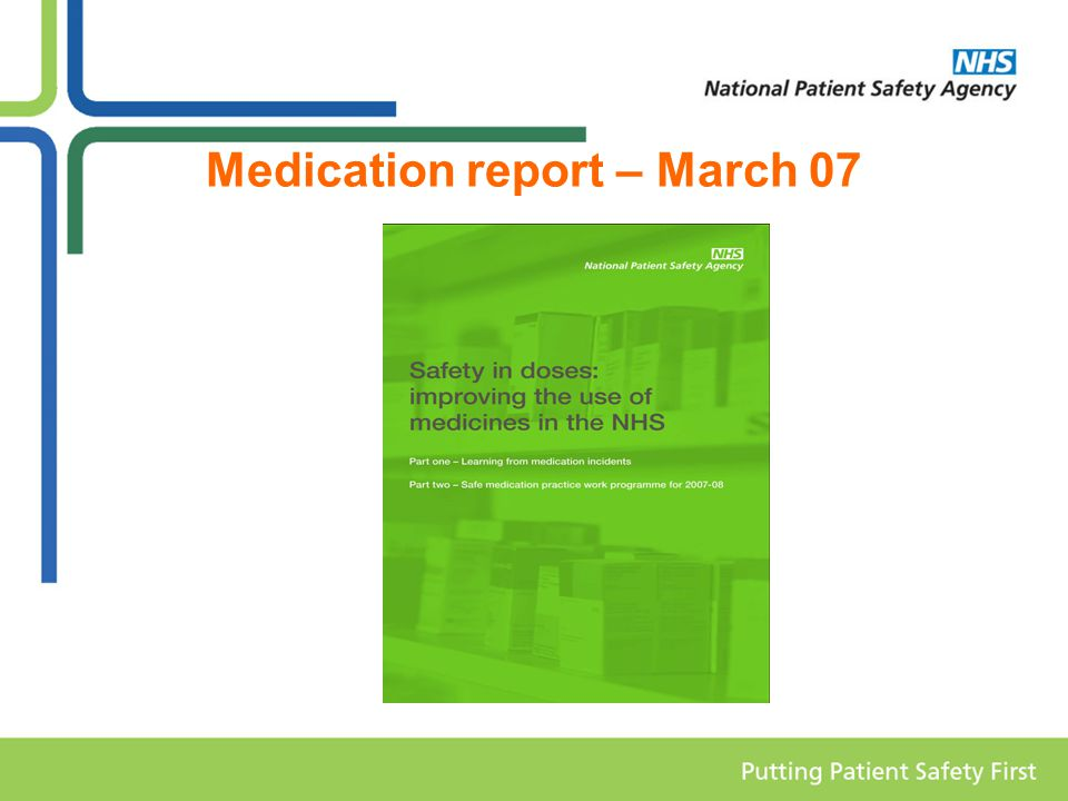 Medication report – March 07