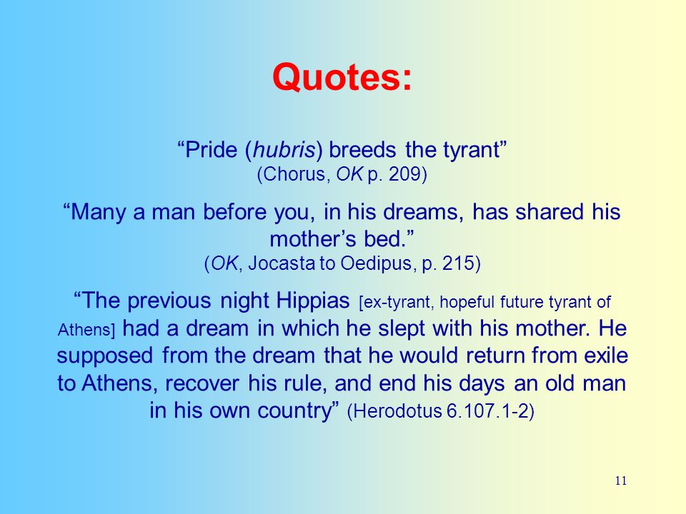 oedipus the king quotes