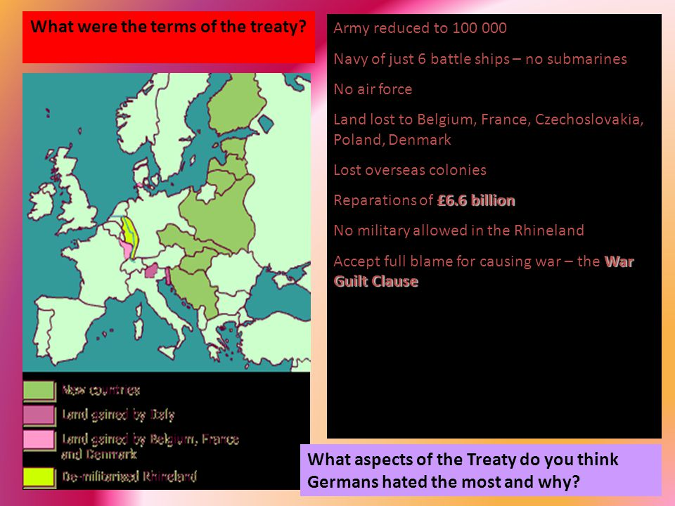 What were the terms of the treaty.