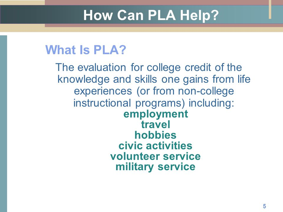How Can PLA Help. What Is PLA.