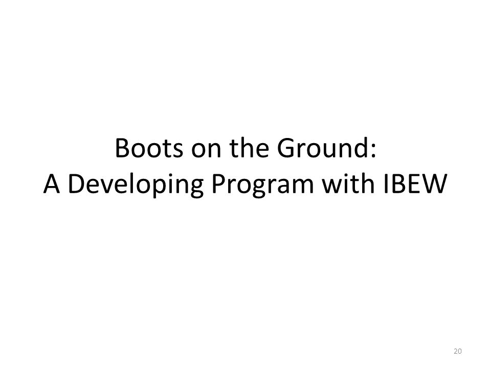 Boots on the Ground: A Developing Program with IBEW 20