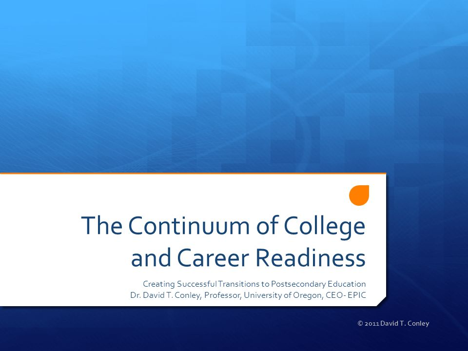 david conley college and career readiness