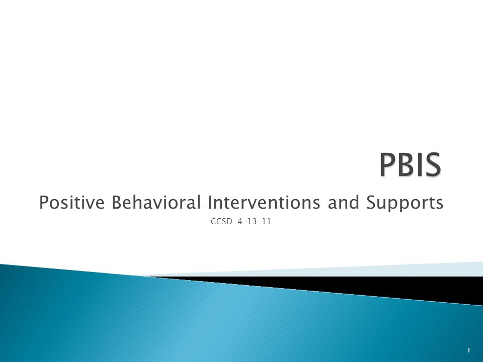 Positive Behavioral Interventions and Supports CCSD