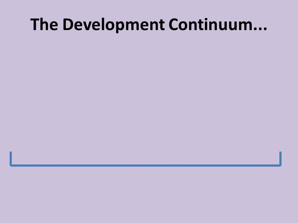 development continuum