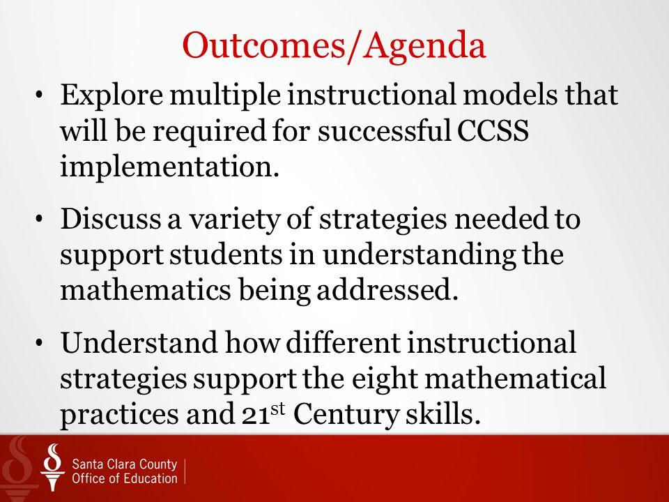 Mathematics Framework Instructional Strategies And Modeling June 26