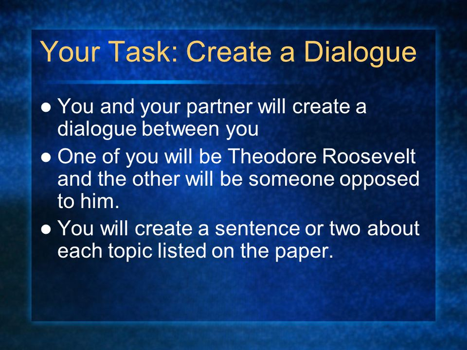 how to create a dialogue