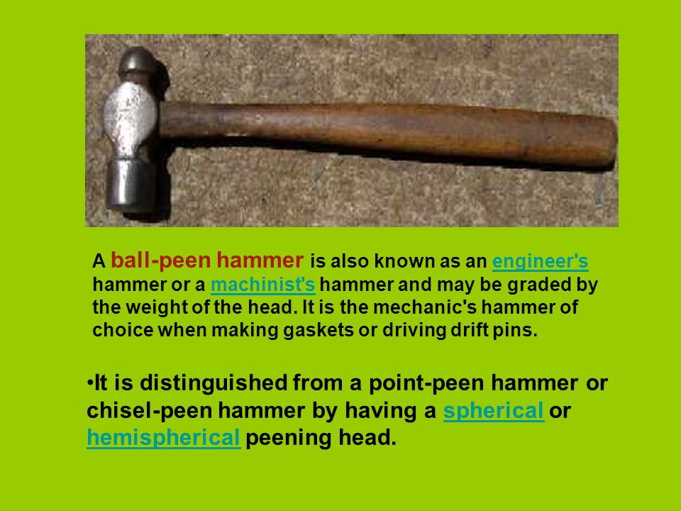 The hammer is a very simple striking tool  It is just a