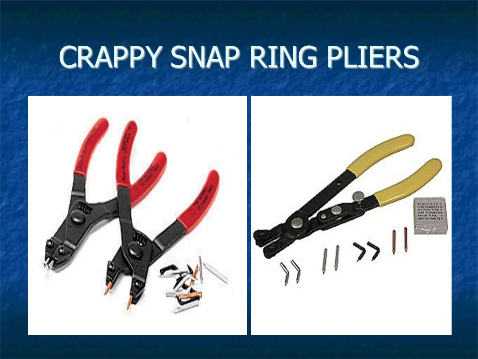 CRAPPY SNAP RING PLIERS