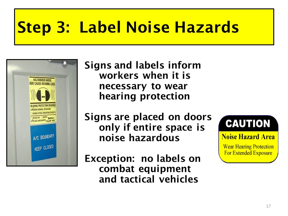 NOISE MEASUREMENT and CONTROL HEARING CONSERVATION PROGRAM 1