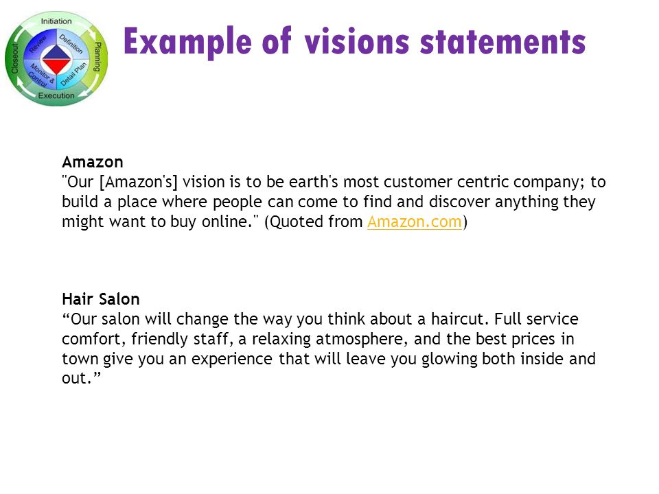 hair salon vision statement examples
