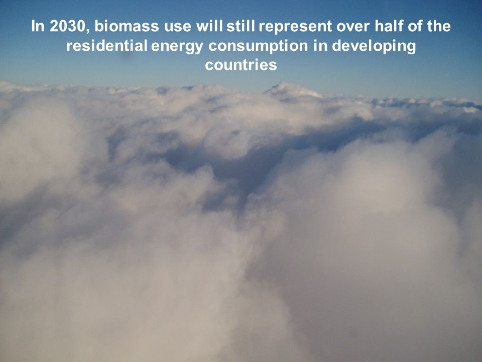 In 2030, biomass use will still represent over half of the residential energy consumption in developing countries