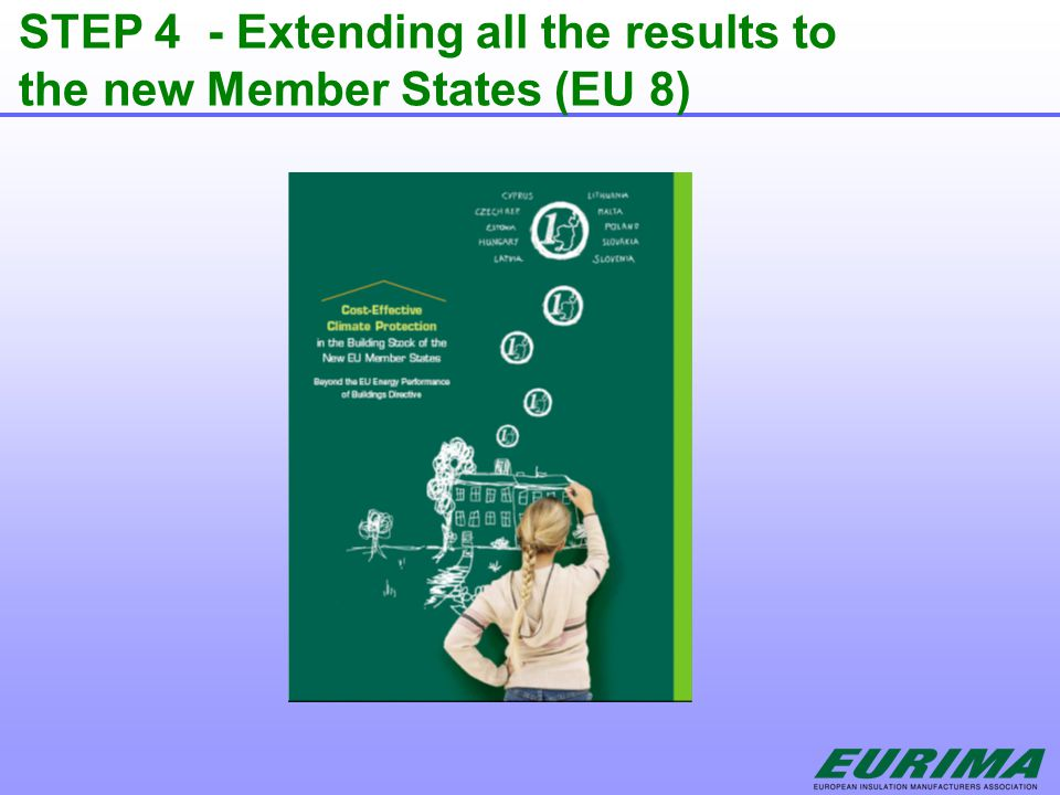 STEP 4 - Extending all the results to the new Member States (EU 8)