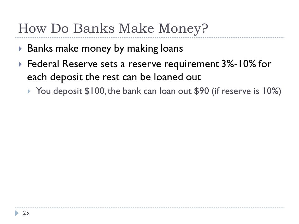 How Do Banks Make Money.