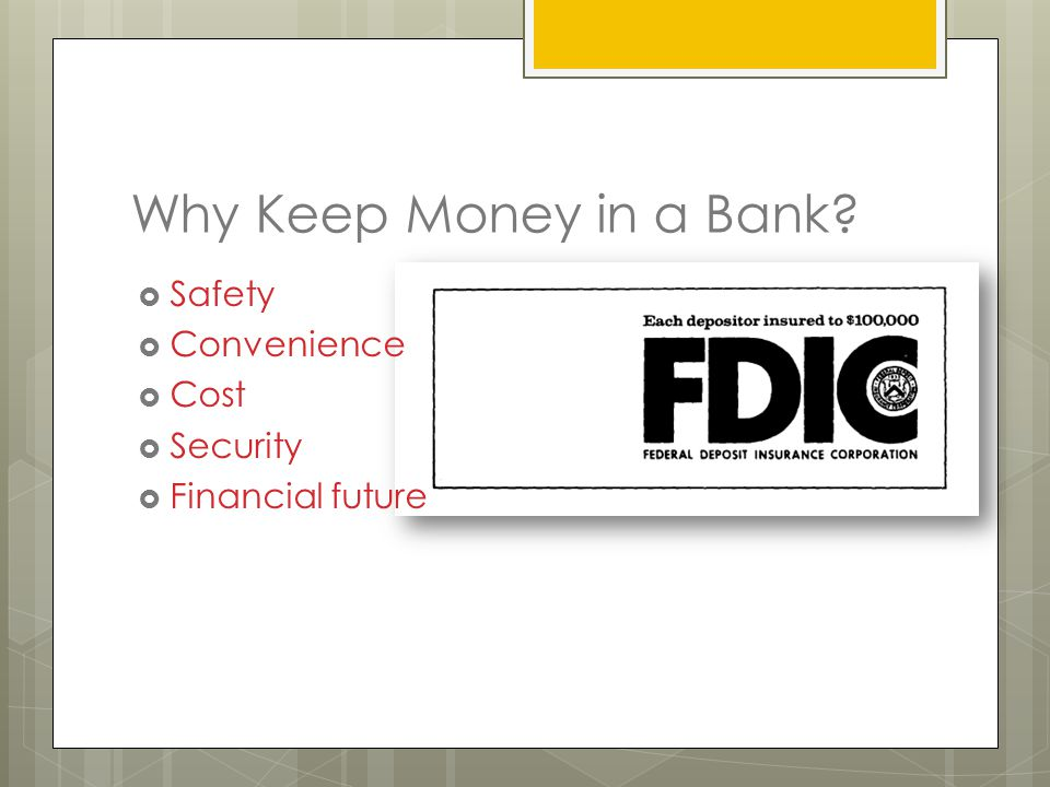 Why Keep Money in a Bank  Safety  Convenience  Cost  Security  Financial future