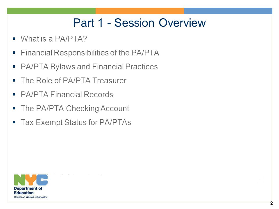 2 Part 1 - Session Overview  What is a PA/PTA.