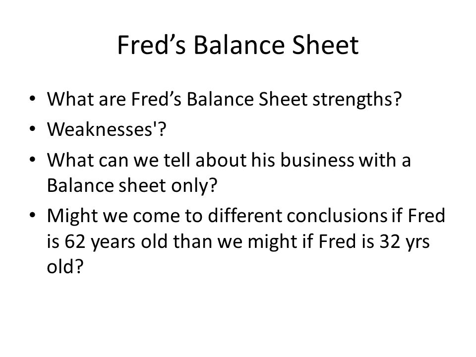 Fred's Balance Sheet What are Fred's Balance Sheet strengths.