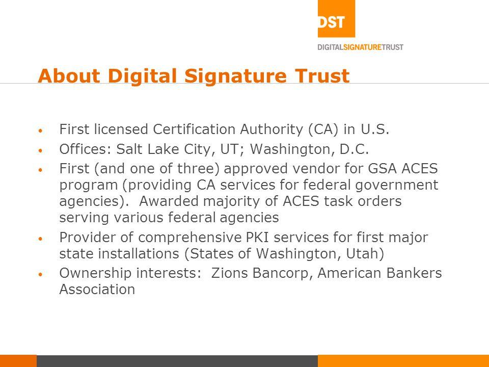 casey lide director, education services digital signature trust ...