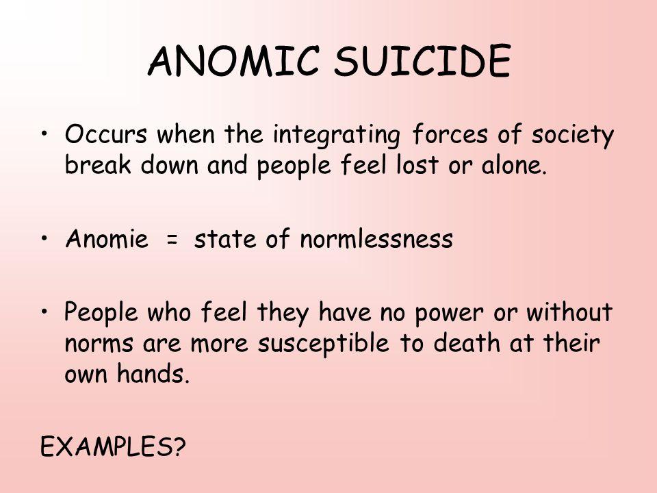 anomic society