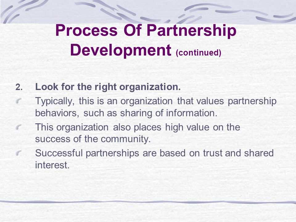 2. Look for the right organization.