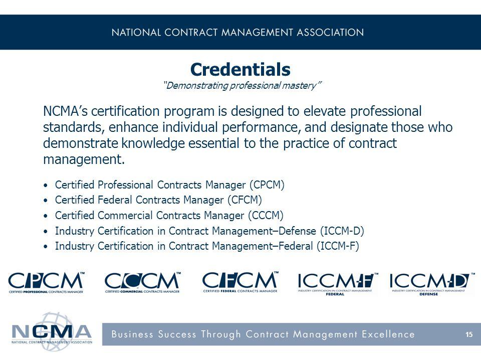 Contracting Professionalism Through Ncma Ncmas Mission Advance
