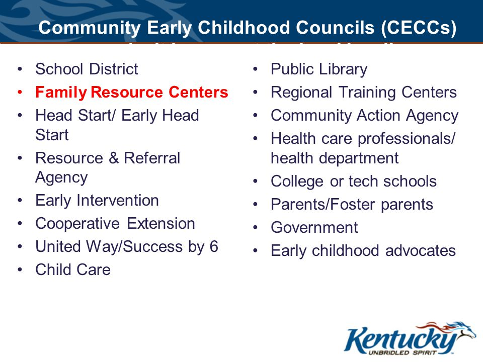 Community Early Childhood Councils (CECCs) make it happen at the local level.