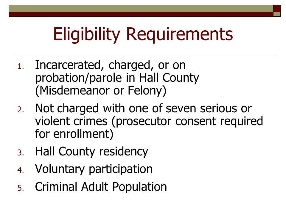 Eligibility Requirements 1.