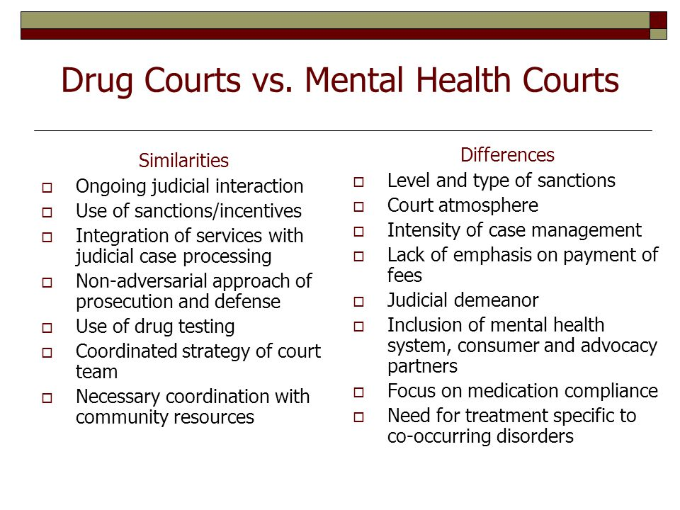 Drug Courts vs.