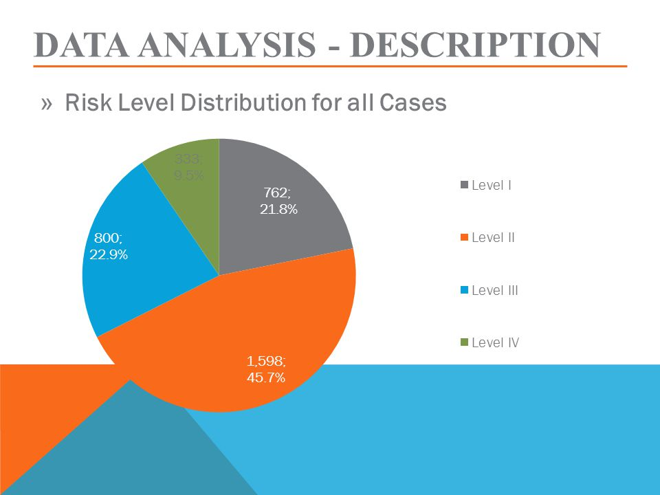 DATA ANALYSIS - DESCRIPTION » Risk Level Distribution for all Cases
