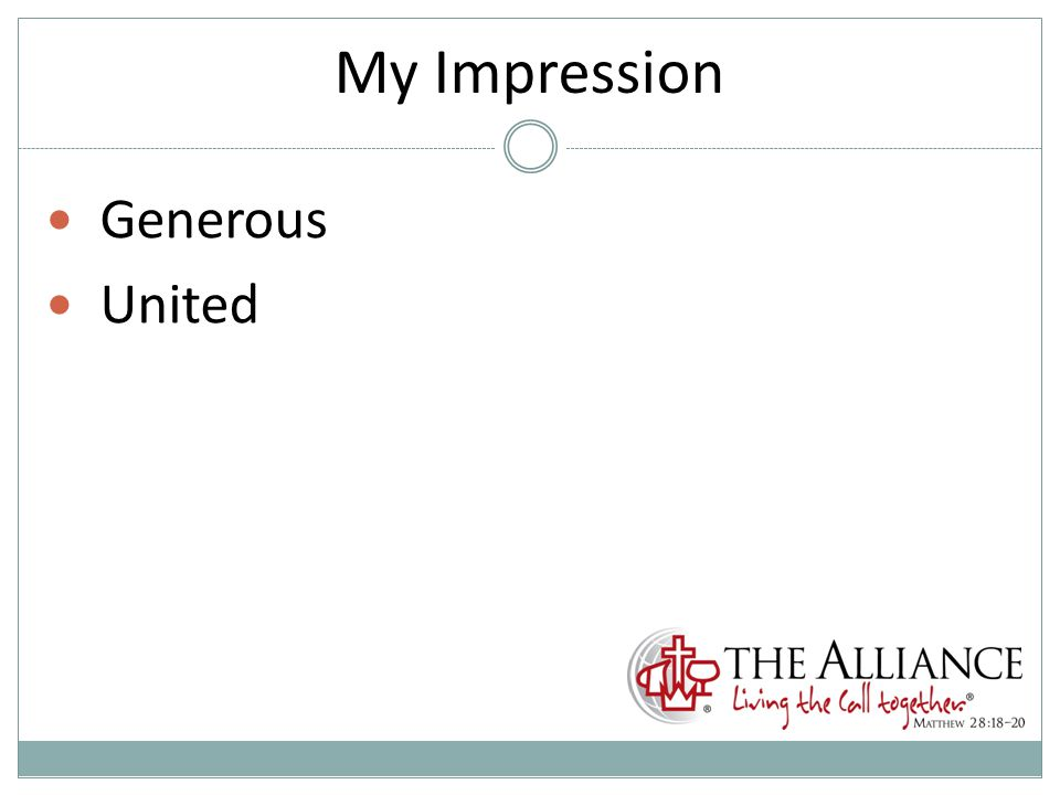 My Impression Generous United