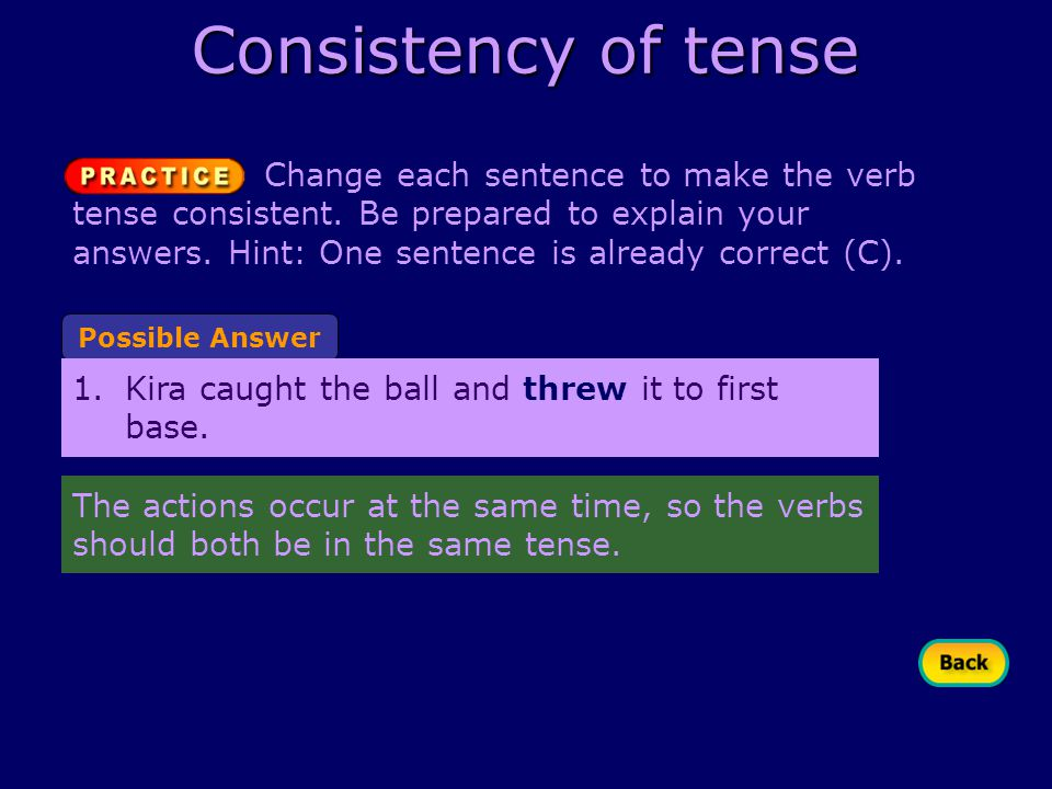 Understanding Verb Tense What Are The Tenses Present And. Worksheet. Consistent Verb Tense Worksheet At Clickcart.co
